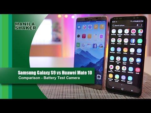 Samsung Galaxy S9 vs Huawei Mate 10 Comparison - Camera, Battery Test