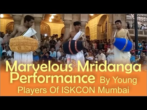Marvelous Mridanga Performance by Young Players of ISKCON Mumbai