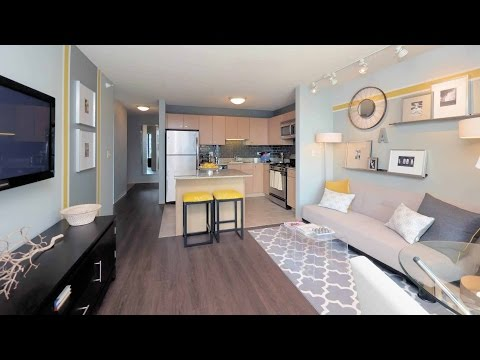Tour a standard one-bedroom at the iconic Aqua apartment tower