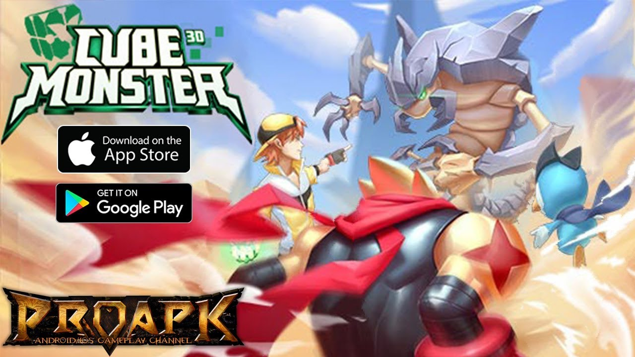 Cube Monster 3D Gameplay Android / iOS (Open World MMORPG)