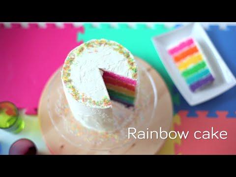 Easy Rainbow Cake Recipe