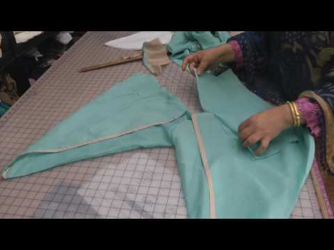 tulip salwar pleating