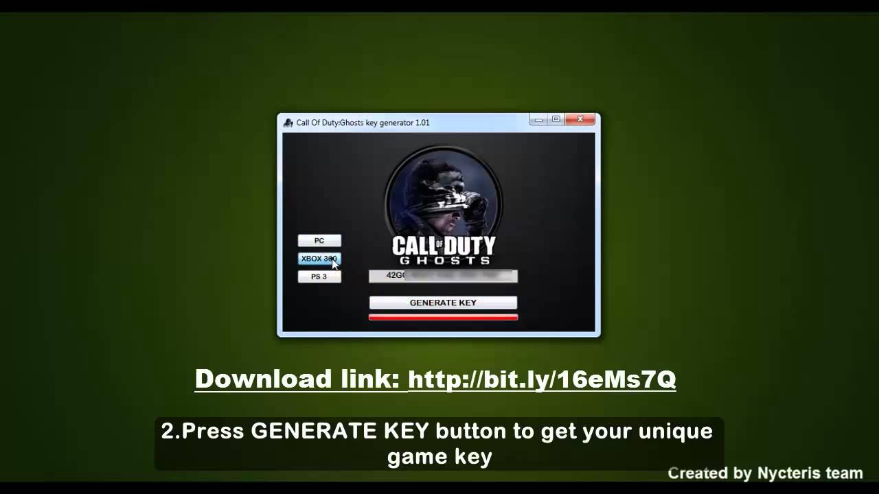 Call of Duty Ghosts Key generator `` Keygen + Crack ...