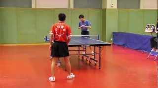 2012 全港公開青少年乒乓球團體賽男D8強 嚴浩楠 vs 馬子迅 Round 1