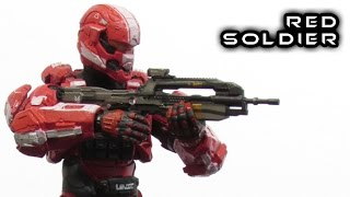 McFarlane Halo 4 RED SPARTAN SOLDIER Figure Review