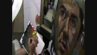 Clases hacer un autorretrato al oleo en 39 minutos con espejo Ernesto Rios pintura