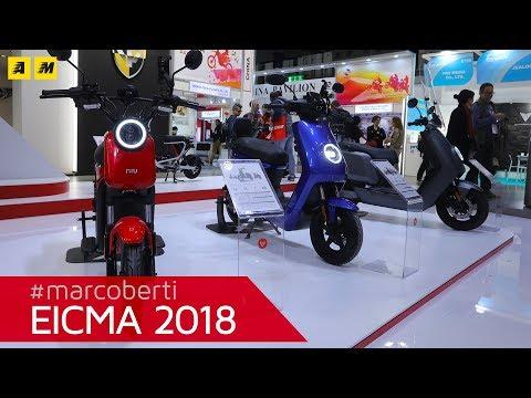 La gamma scooter elettrici NIU a EICMA 2018 [ENGLISH SUB]
