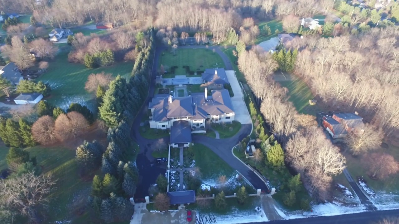 Lebron James Bath Ohio Home Drone Flyover