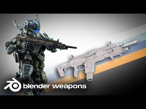 TitanFall - Carabine R-101C - BLENDER WEAPONS (Blender)