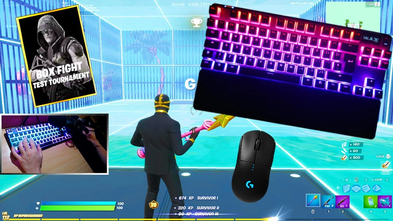 Steelseries Apex Pro ASMR Chill🤩Satisfying Keyboard Fortnite Omnipoint Switch 240 FPS Smooth 4K