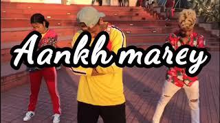 SIMMBA: Aankh Marey  dance choreography | ft. Sammy & nangku