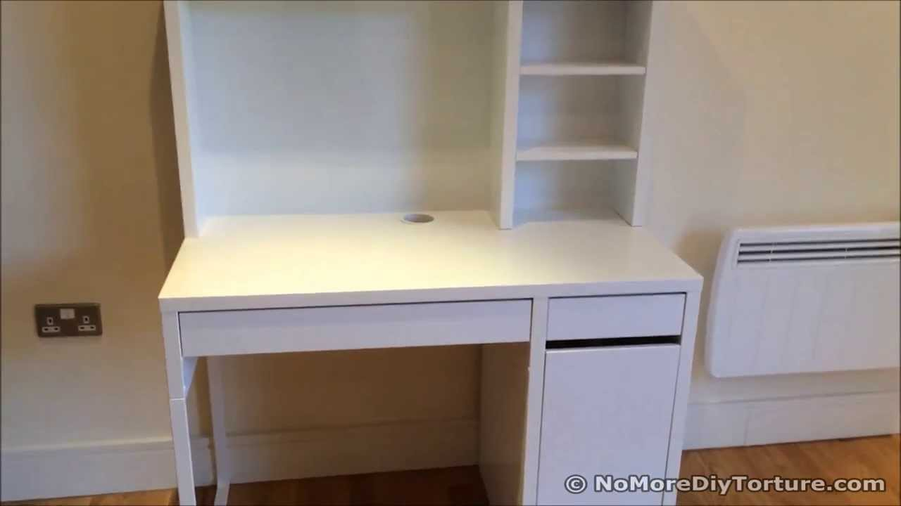 Bon Study Desk   IKEA MICKE Wrokstation   YouTube