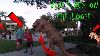T-REX EATING KIDS AT THE PARK #FST