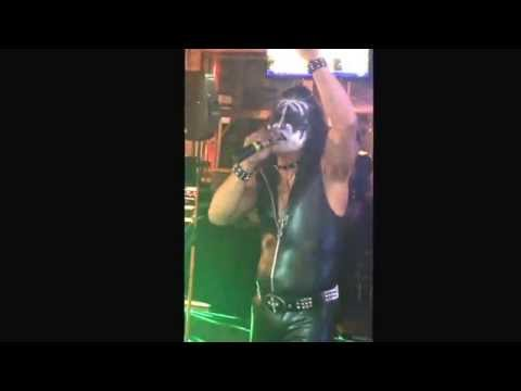"""Manasseh dressed up kIss """" and sang Neil Diamond tonight at PB BAR AND GRILL  KARAOKE WITH KRISTINA"""