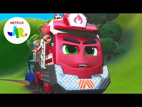 Rescue Red's Most Radical Rescues 🚒 Mighty Express | Netflix Jr