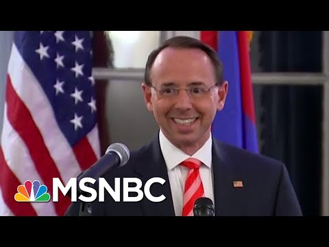 New Report: Rod Rosenstein To President Donald Trump: 'I Can Land The Plane' | Deadline | MSNBC