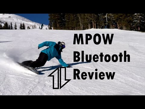 MPOW bluetooth review. Snowboard with music from your phone.