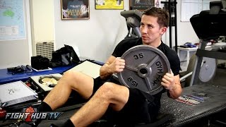Gennady Golovkin vs. Kell Brook- Golovkin's COMPLETE AB Workout- Big Bear, CA