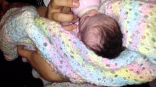 Reborn Baby Doll crying before feeding! Lifelike Baby Doll! So Real! Fake Baby! Nlovewithreborns2011