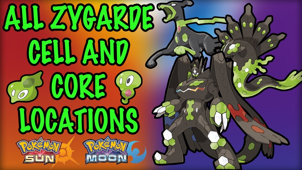 All Zygarde Cell and Core Locations  Pokemon Sun and Moon