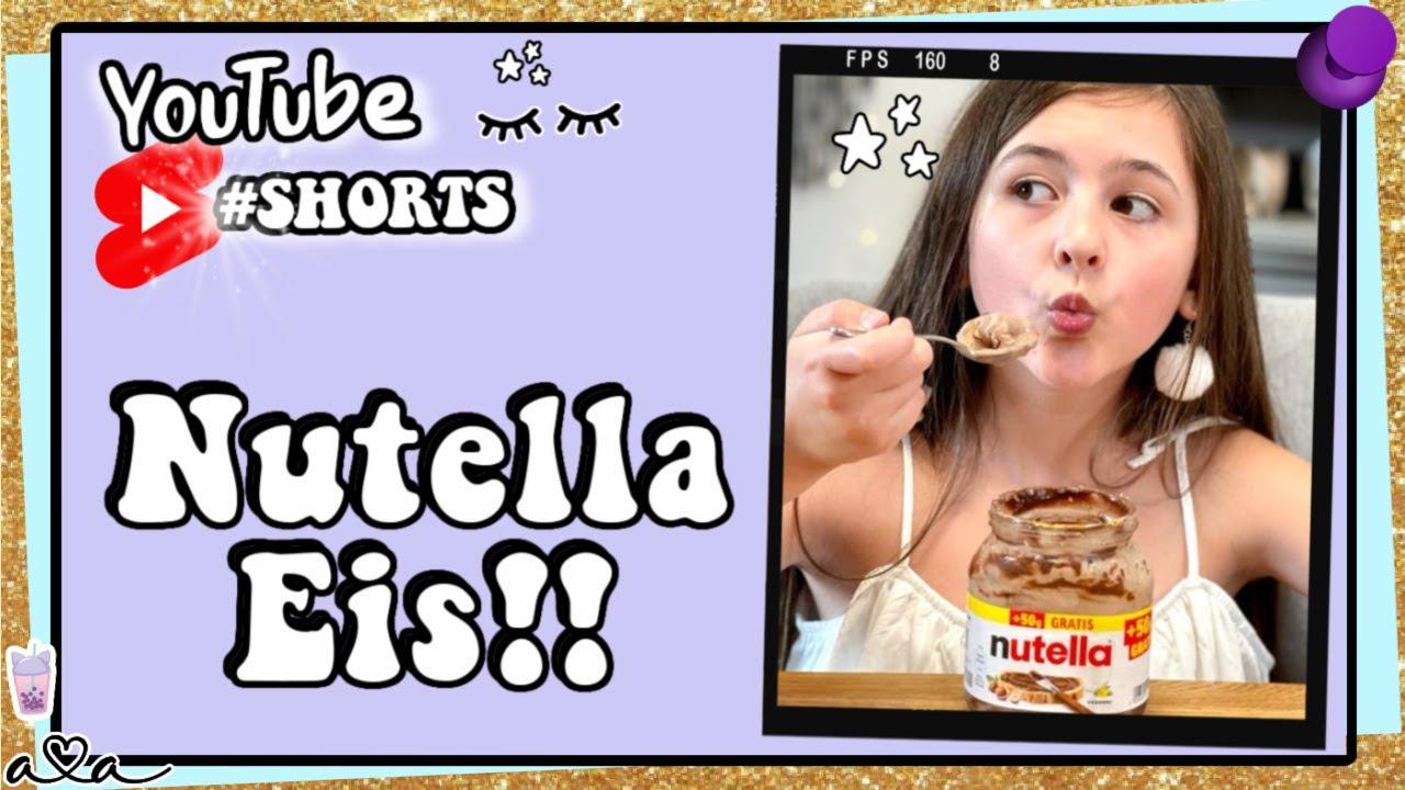 Nutella Eis aus 2 Zutaten direkt im Glas! 💜 Alles Ava #shorts