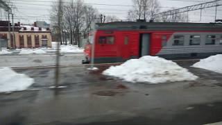 . Санкт-Петербург. 8 марта 2019 г. Поездка на поезде #30 к Московскому вокзалу