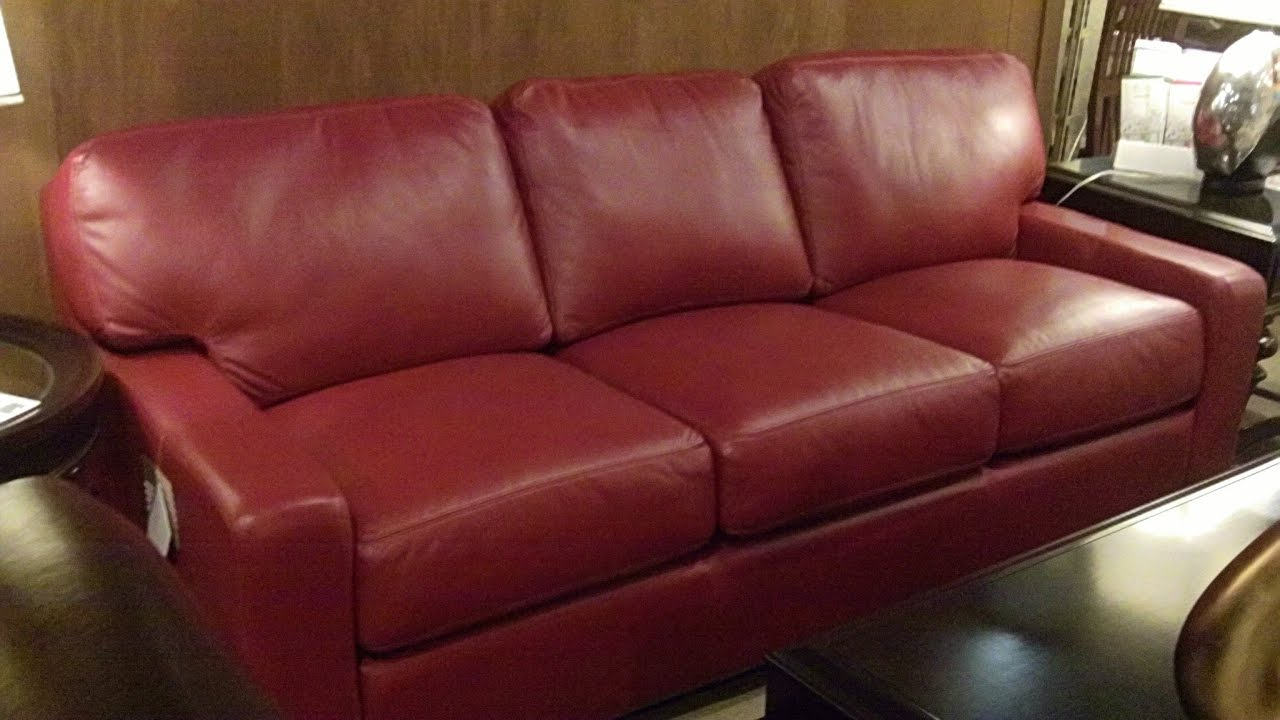 Red Leather Couches