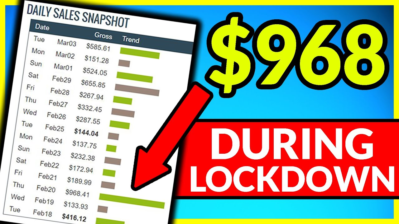5 Ways To MAKE MONEY ONLINE During LOCKDOWN! (I Made $968 in ONE DAY)