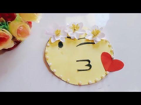 Beautiful handmade emoji card / birthday card /greeting card for birthday / full video