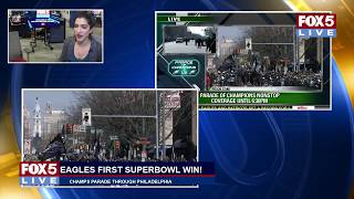 FOX 5 LIVE (2/8): EAGLES Superbowl victory parade and ceremony from Philadelphia - WATCH LIVE!