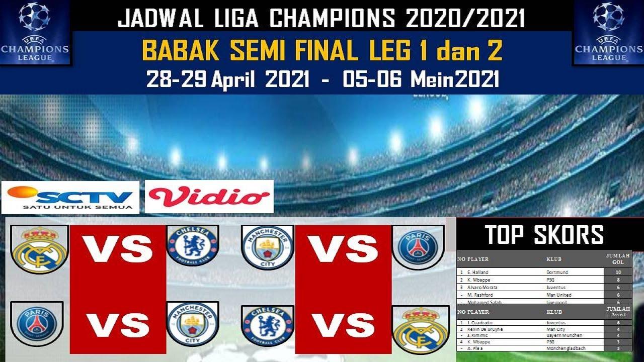 Jadwal Semi Final Liga Champion 2021 / Jadwal Lengkap ...
