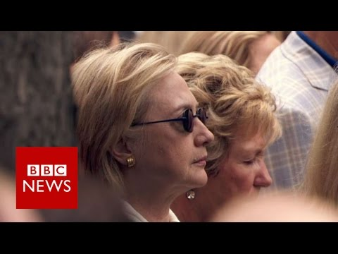 Hillary Clinton 'stumbles' at 9/11 event - BBC News