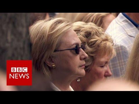 Hillary Clinton 'stumbles' at 9/11 event - BBC News