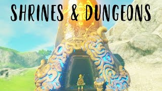 SHRINES AND DUNGEONS!! The Legend of Zelda Breath of the Wild Gameplay (DIRECT FEED Nintendo Switch)