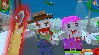 ЗОМБИ Нападение как МАЙНКРАФТ 5 Симулятор Выживания с Пиксельными зомби ОДНОГЛАЗЫЙ СНАМИ