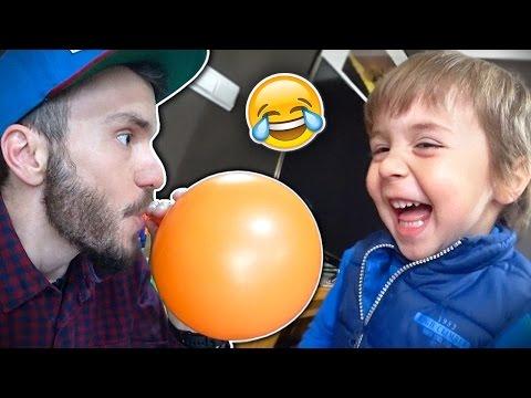 TENTE NÃO RIR COM GAS HÉLIO!! Desafio dos Balões Coloridos com o Maikito Helium Gas Challenge