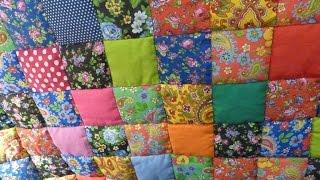"""Лоскутное одеяло """"Случайный цвет"""" за 30 минут! Мастер-класс """"Мир лоскутов.ру"""""""