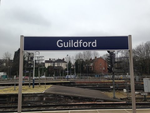Full journey on south west trains from guildford to london waterloo