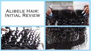 Aliexpress Hair: Alibele Hair Unboxing | Malaysian Curly Frontal