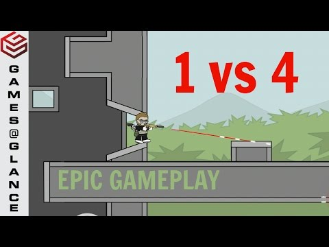 DA2 Mini Militia Epic Gameplay 1 v 4