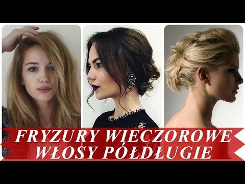 Fryzury Wieczorowe Włosy Półdługie Youtube