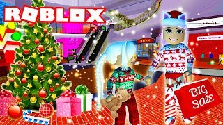 CHRISTMAS SHOPPING WITH POPPY | Bloxburg Roleplay | Roblox