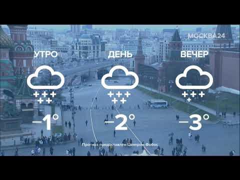 Заставка, анонс, погода, часы и начало новостей (Москва 24, 28.12.2019)
