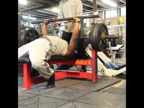 140kg X2 Paused Cambered Squat Bar Bench Press Youtube