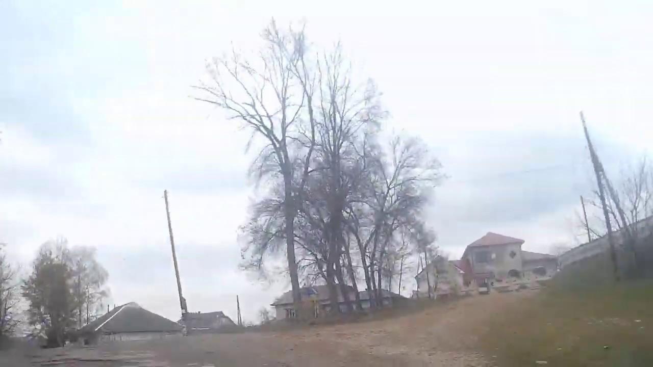 Road view. Ukraine. Hvizdets – Trofanivka. April 2019 Hvizdets ' – T