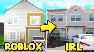 BUILDING MY IRL HOUSE IN BLOXBURG!! (Roblox Bloxburg)