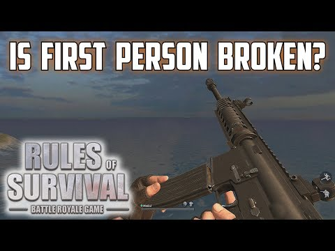 IS FIRST PERSON BROKEN? - Rules of Survival Livestream