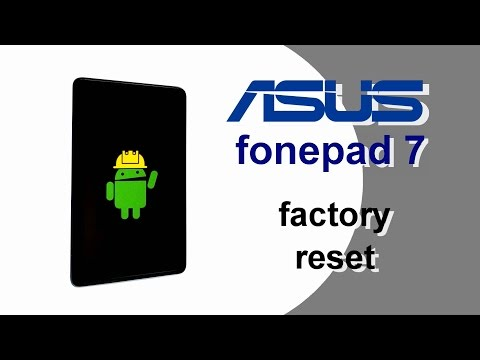 🍀 ASUS fonepad 7 Hard Reset Factory Reset Screen lock Removal
