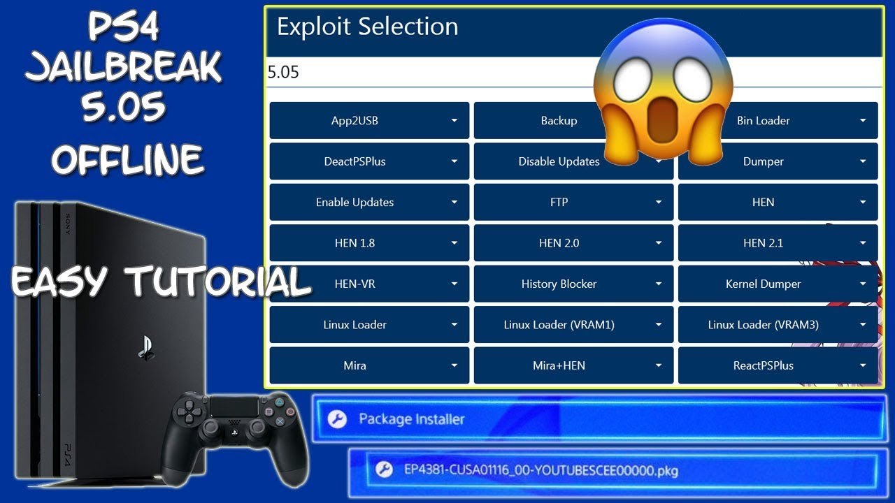 How To Custom Your PS4 Firmware 5 05 install PKGs Enable Debug settings by  Console Info