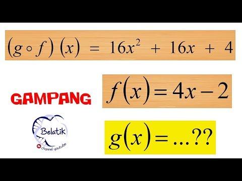 Mencari Fungsi G X Diketahui Gof X Dan F X Fungsi Komposisi Samasaya Belajardirumah Belajar Youtube
